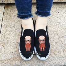 Wenfire Canvas Shoes Slip On Anime Attack on Titan Black Sneakers Skateb... - $45.00