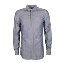 DSQUARED2 Chambray Slim Fit Button-Down Shirt , Size EUR 50, MSRP $490 - $270.44