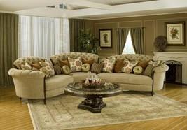 Benetti's Elena Luxury Tufted Beige Chenille Modular Sectional Sofa Set Classic