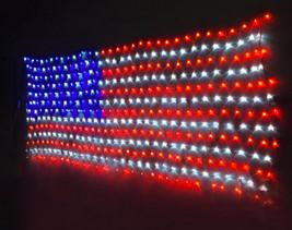American Flag String Lights Flag Net Lights Fourth of July Flag Independence Day - $33.99