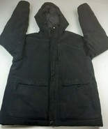 DULUTH TRADING COMPANY FAUX SUEDE HOODED INSULATED JACKET SZ MED - $38.00