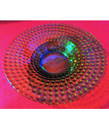 """Vaseline glass, small bowl, Dot pattern, 5 3/4"""" by about 2"""" deep, stunning. - $14.00"""