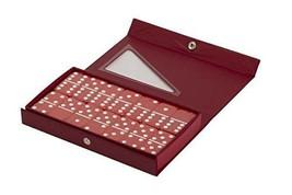 Red Double 6 Jumbo Size Red Domino Tiles in Snap Vinyl Case - $16.51
