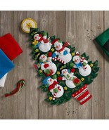 Bucilla - 'Snowman Tree Wall Hanging' Felt Applique Embroidery Kit - 86913 - $38.99