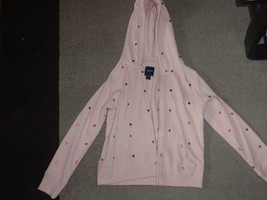 Girls HOODIE GAP KIDS Size XL 12  Light Pink Zips SOFT INSIDE! - $12.83