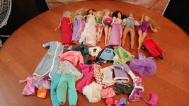 Lot of 8 Dolls, Ken,Barbie, Tinker Bell, Hanna Montana and more! 1968-20... - $22.77