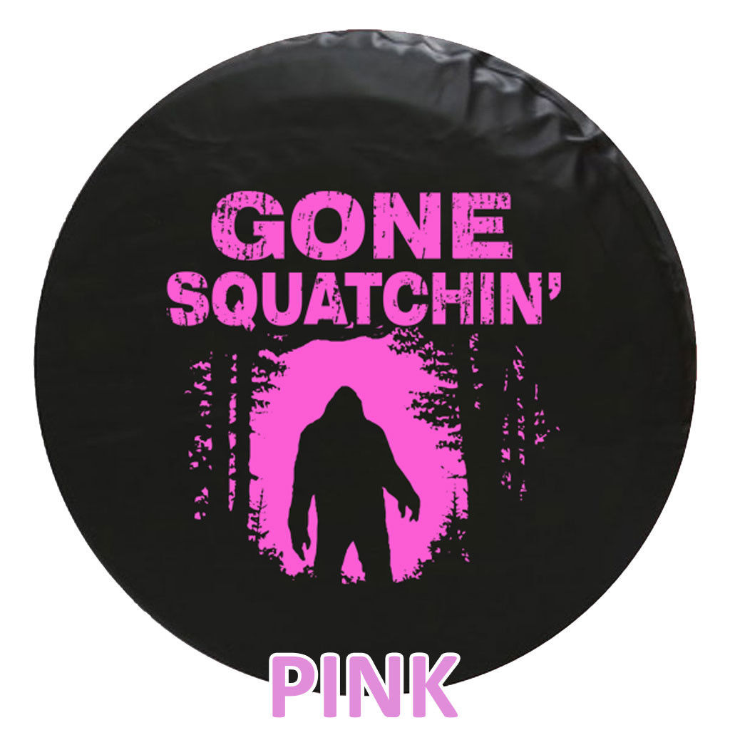 Gone Squatchin Bigfoot Tire Cover - STANDARD -We Need Tire Size and Color Choice
