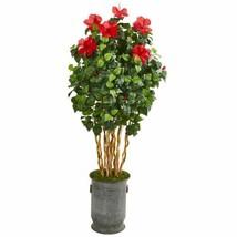 "Luxury Multicolor 67? Hibiscus Artificial Tree in Decorative Planter - 67"" - $341.23"