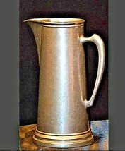 Vintage tall metal water pitcher AA19-1406 image 2