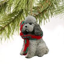 Conversation Concepts Poodle Gray W/Sport Cut Original Ornament - $14.59