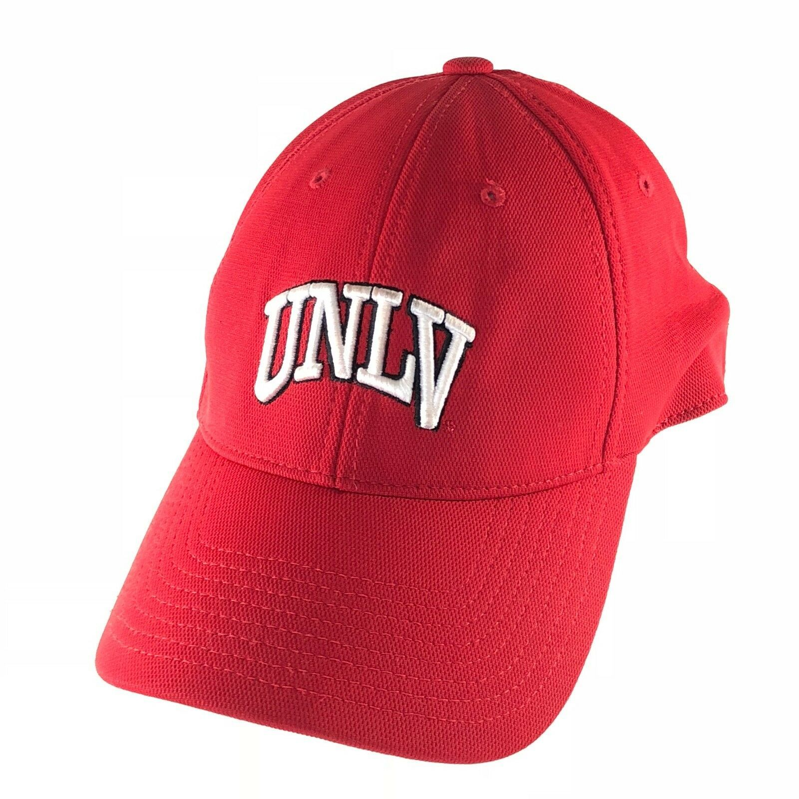 UNLV Rebels University Of Las Vegas 90s Hat Cap Fitted One Size Men Red Stretch