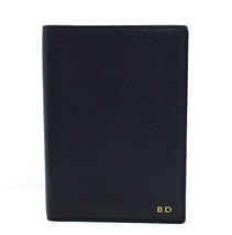 Smythson Panama Collection Leather Passport Cover Blue - $89.34