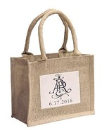 Mini Jute Gift Tote Bags w/Clear Pocket for Wedding Favors, Crafts, Deco... - $70.43