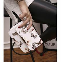Women Floral Shoulder Bag Small Messenger Bag Retro Butterfly Clutch Tote Purse image 11