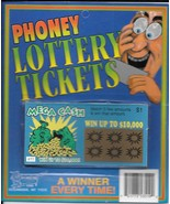 Fake Lottery Tickets- Set of 2 on a card-Each ticket a FAKE WINNER!  - $1.50