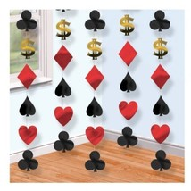 6 x 7ft Suit of Cards Poker Vegas Theme Party Hanging 42 ft Casino Decor... - $4.16