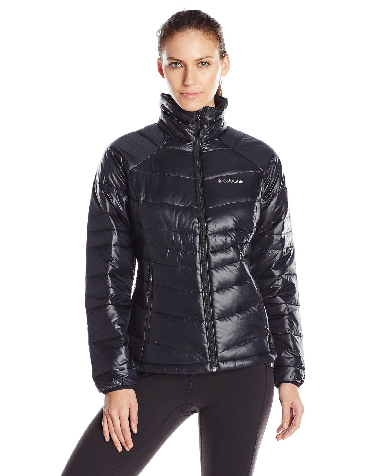 Columbia Women's Gold 650 TurboDown Radial Down Jacket, Large, Black