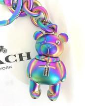 COACH 3D Iridescent Metal Bear Keychain Handbag Charm F87166 NWT $80.00  - $42.99