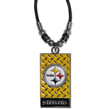 PITTSBURGH STEELERS NECKLACE ROPE DIAMOND PLATE NFL OFFICIALLY LICENSED - €7,55 EUR