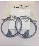 Kate Spade California dreaming pave shark statement Hoop earrings w/KS D... - $38.99