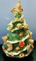 Vintage Ceramic Christmas tree candle holder - angel  RARE - $47.45