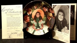 """""""Scarlett and Her Suitors"""" by Howard Rogers Plate with Box AA20-CP2231 Vintage image 2"""