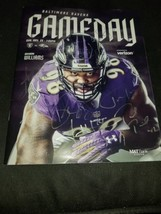 Baltimore Ravens GAME DAY Program Multi Autographs Justin Tucker, Jordan... - $28.80
