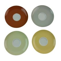 Thomas Rosenthal Set of 4 Various Colors Saucers Saucer Plates Vtg 1960s - $17.32