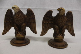 "Pair of Vintage Mid Century Hand Painted SYROCO WOOD Eagle 6"" Candlestic... - $49.99"