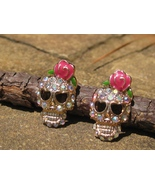 HAUNTED spell cast sugar SKULL earrings free with 50.00 purchase HOT HOT... - $0.00