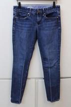 W12849 Womens GAP 1969 Blue Denim REAL STRAIGHT Stretch JEANS Size 6 - $28.92