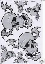 D287 Skull Head Bones Dead Decal Racing Tuning Size 27x18 cm / 10x7 inch - $3.49