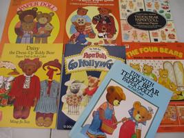 Teddy Bear Paper Doll Book Big Lot Vintage animal Costume Cosplay Cute   - $75.17