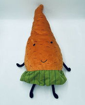 "IKEA Torva Orange Carrot Doll Stuffed Plush Toy Vegetable 24"" Green Shorts - $13.99"