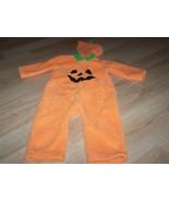 Infant Baby Size 24 Months Pumpkin Jack O Lantern Plush Halloween Costum... - $22.00