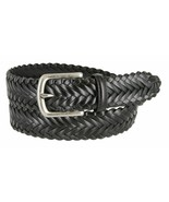 """Genuine Leather Woven Braided Leather Dress Casual Belt 1-3/8"""" Wide Blac... - $17.95"""