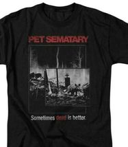 Pet Sematary T-shirt Dead Better Stephen King retro 80's horror movie Black Tee image 2