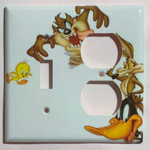 Looney Tunes tasmanian devil daffy duck Light Switch outlet cover plate decor image 4