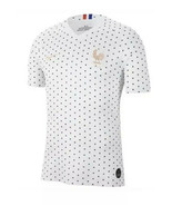 Nike France Away Soccer Jersey Youth Sz L Unisex White Blue Dot NEW AJ44... - $48.90