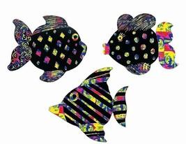 """Magic Color Scratch Fish Ornaments  (24 Pack) 4"""" - $12.34"""