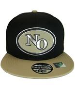 New Orleans No Oval Style Cotton Snapback Baseball Cap (Black/Khaki) - $12.95