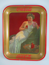 Coca-Cola Antique 1936 Hostess Girl Tin Tray Authentic  - $247.50