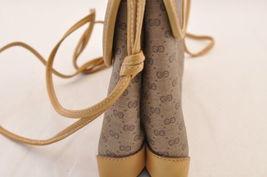 GUCCI GG Canvas Shoulder Bag Brown PVC Leather Auth sa1823 **Powder image 4