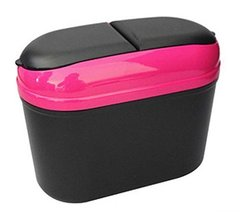 PANDA SUPERSTORE Red Convenient and Fashionable Car Trash Household Garbage Bin