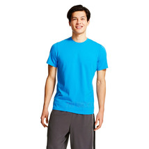 NWT C9 Champion Men's Performance Duo Dry Cotton T-Shirt Blue Stretch Tee Top S - $14.99