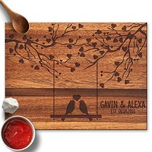 Froolu Love Birds Swing & Hearts Cute cutting board for New Couples Anni... - $72.04