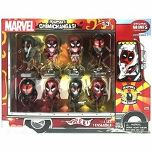 SDCC Deadpool's Chimichangas Metallic Chrome Set of 8 Mini Bobbleheads MIB - $19.88