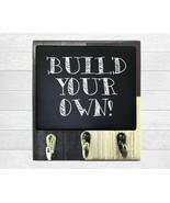 Custom Built Dog Leash & Coat Holder, Wooden Message Board, Command Cent... - $25.49