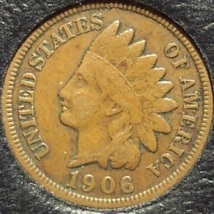 1906 Indian Head Cent F12 FULL LIBERTY #0621 - $3.99