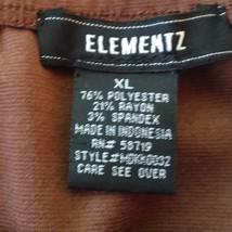 Elementz Brown Stretch Skirt Flared Bottom Size XL image 3